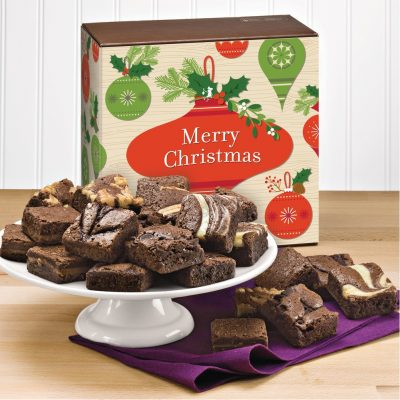 Christmas Morsel 24 Brownie (Brown Box w/ Christmas Tree Band)