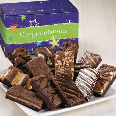 Congratulations Sprite Dozen Brownies in Treasure Box