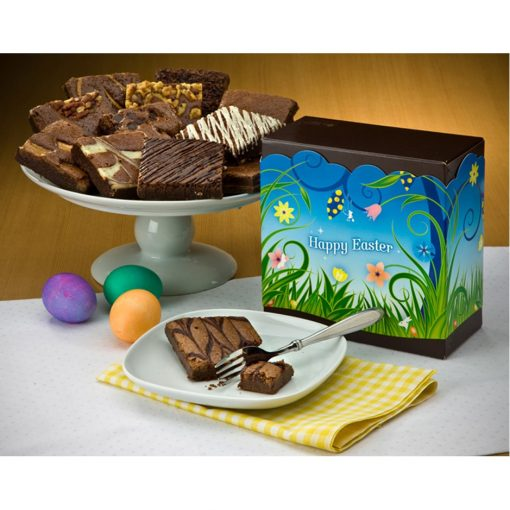 Easter Dozen Brownie Box w/ Happy Easter Band