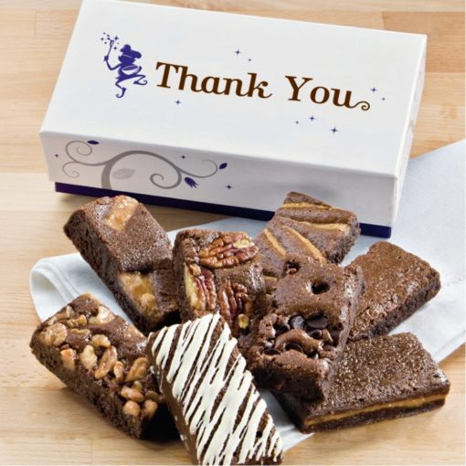 Fairytale Brownie Thank You 8-Sprites Favor In White/ Purple Box
