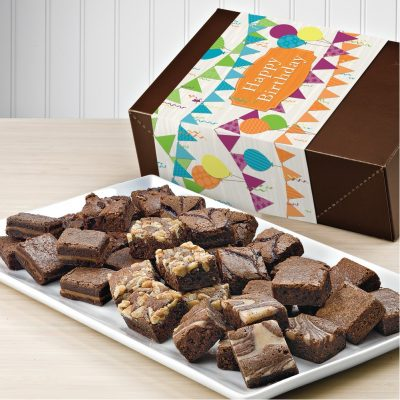 Fairytale Brownies Birthday Magic Morsels 36 (Brown Box w/ Whimsical Band)