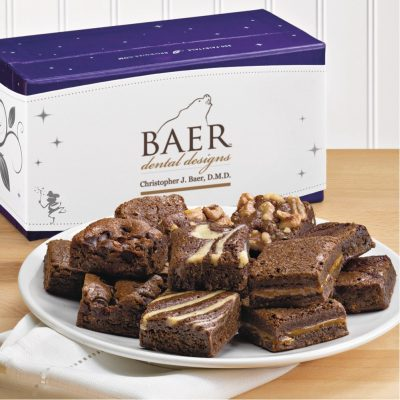 Fairytale Brownies Custom Magic Morsels Dozen - Full Color (Purple/ White)