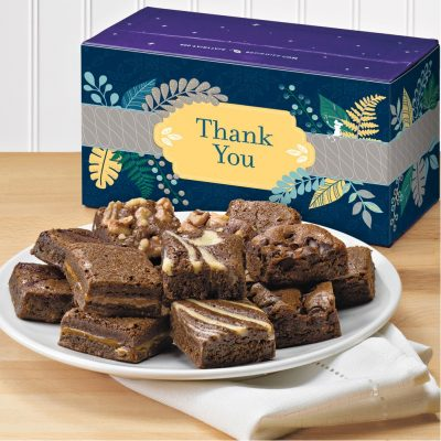Fairytale Brownies Thank You Morsel Dozen (Purple/ White Box)