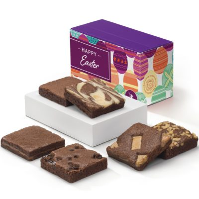 Easter 1/2 Dozen Fairytale Brownies (Purple Treasure Box w/Band)