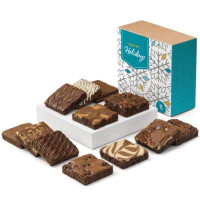 Holiday Dozen Fairytale Brownies (Kraft Box w/ Happy Holidays Band)