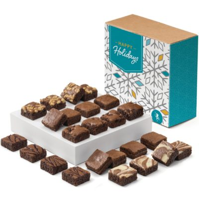 Holiday Morsel 24 Brownie (Kraft Box w/ Happy Holidays Band)