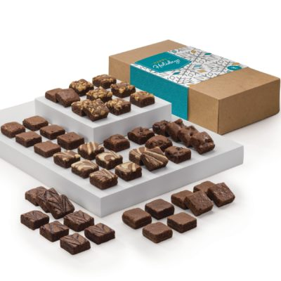 Holiday Morsel 48 Brownie (Kraft Box w/ Happy Holidays Band)